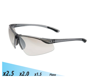 Picture of VisionSafe -101SD-2.5 - Smoke Hard Coat Safety Glasses