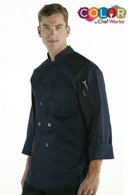 Picture of Chef Works - *CCBA-NAV - Torino Navy Basic Chef Coat