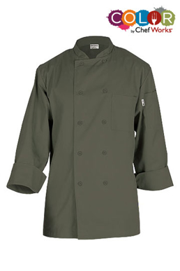 Picture of Chef Works - CCBA-OLI - Perugia Olive Basic Chef Coat