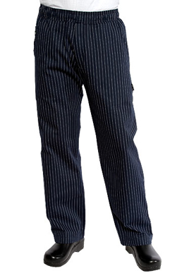 Picture of Chef Works - BPST-NAV - Navy Pinstripe Better Built Baggy