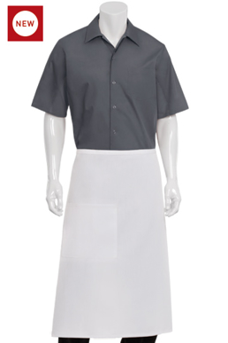Picture of Chef Works - A601 - White Bistro Apron