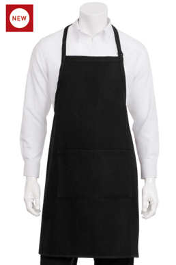 Picture of Chef Works - A605-WHT - White Waffle Weave Bib Apron