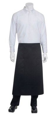 Picture of Chef Works - BPTA - Black Tapered Apron w Flap