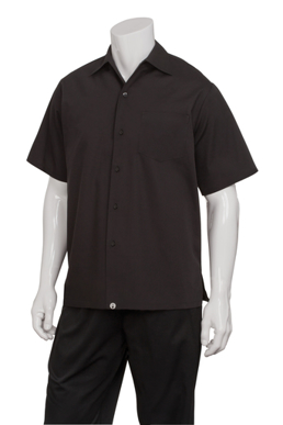 Picture of Chef Works - C100-BLK - Black Café Shirt