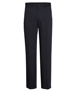 Picture of VAN HEUSEN - AVNT01NVY - VAN HEUSEN NAVY FLAT FRONT, HIGH TWIST YARN, NAIL HEAD FABRIC TROUSER