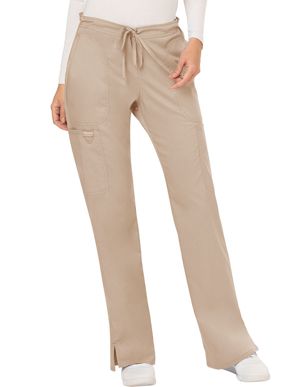 Picture of CHEROKEE- CH-WW120P-Cherokee Workwear Revolution Womens Mid Rise Moderate Flare Drawstring Petite Pant