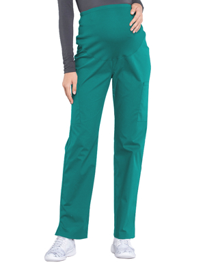 Picture of CHEROKEE-CH-WW220T-Cherokee Workwear Professionals Maternity Knit Waist Straight Leg Tall Pant