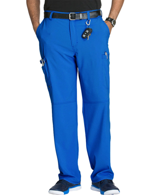 Picture of CHEROKEE-CH-CK200AS-Cherokee Infinity Men's Antimicrobial Fly Front Cargo Petite Pant