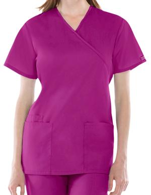 Picture of CHEROKEE-CH-4801-Cherokee Workwear Womens Three Pocket Scrub Top