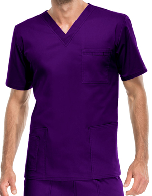 Picture of CHEROKEE-CH-4725-Cherokee Workwear Unisex V-Neck Nurses Scrub Top