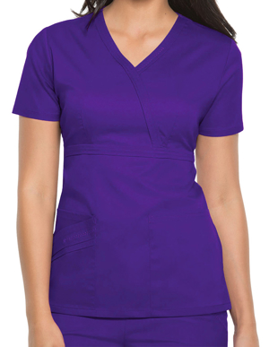 Picture of CHEROKEE-CH-1841-Cherokee Luxe Women Rayon Mock Wrap Scrub Top
