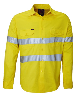 Picture of Ritemate Workwear-RM1040R-Open Front with 3M 8910 Reflective Tape Shirts