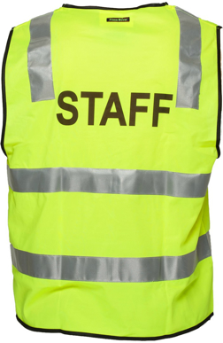 Picture of Prime Mover-MZ107-Stock Printed STAFF Day/Night Vest