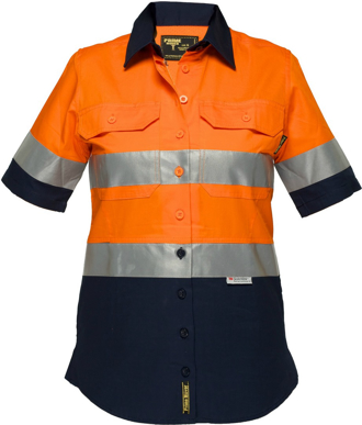 Picture of Prime Mover-ML809-Ladies Lightweight Cotton Drill Shirt