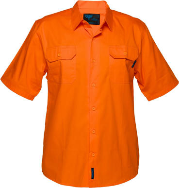 Picture of Prime Mover-MS302-Hi Vis Cotton Drill Shirt