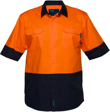 Picture of Prime Mover-MS802-Hi Vis Cotton Drill Shirt