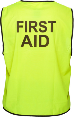 Picture of Prime Mover-MV117-Stock Printed FIRST AID Day Vest