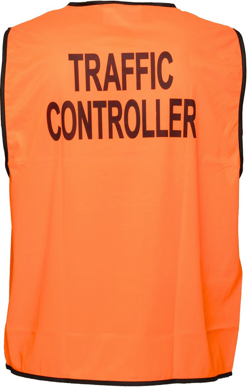 Picture of Prime Mover-MV119-Stock Printed TRAFFIC CONTROLLER Day Vest