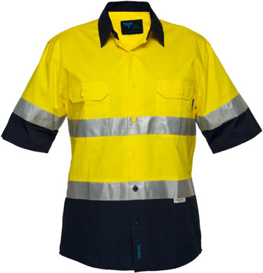 Picture of Prime Mover-MA802-Hi Vis Cotton Drill Shirt