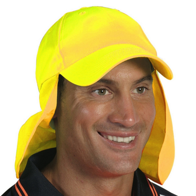 Picture of DNC Workwear-H023-HiVis  Cap with Flap