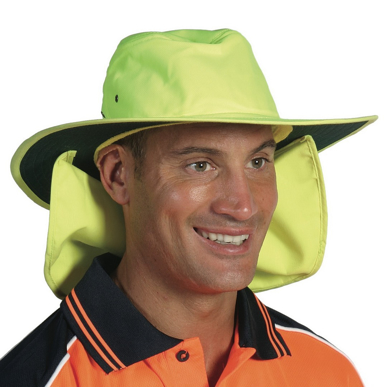 Picture of DNC Workwear-H055-HiVis Hat with Flap
