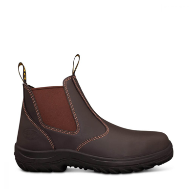 Picture of Oliver Boots-34-626-CLARET ELASTIC SIDED BOOT