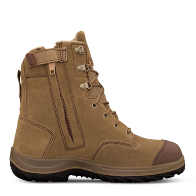 Picture of Oliver Boots-34-674-190MM HI-LEG BEIGE ZIP SIDED BOOT