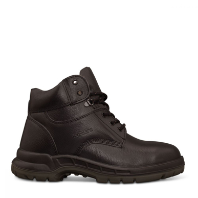 Picture of Oliver Boots-15-434-King's Black Lace Up Boot