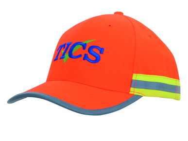 Picture of Headwear Stockist-3030-Hi Vis Cap with Reflective Tape
