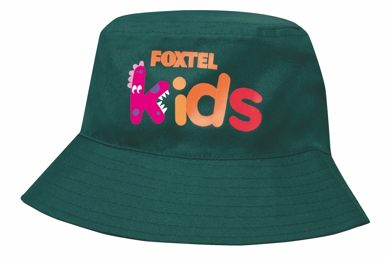 Picture of Headwear Stockist-3938-Breathable Poly Twill Infants Bucket Hat