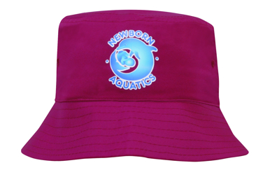 Picture of Headwear Stockist-3939-Breathable Poly Twill Childs Bucket Hat