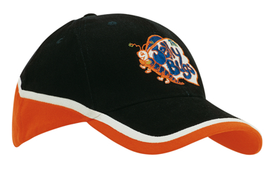 Picture of Headwear Stockist-4026-Brushed Heavy Cotton Tri-Coloured Cap
