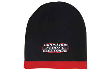 Picture of Headwear Stockist-4188-Roll Down Two Tone Acrylic Beanie - Toque