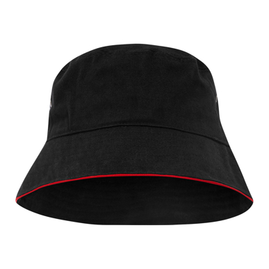 Picture of LW Reid-T4900B-Sturt Cotton Bucket Hat with Trim
