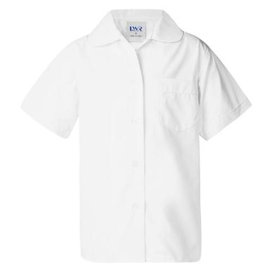 Picture of LW Reid-G3859P-Holman Peter Pan-Collar Short Sleeve School Blouse