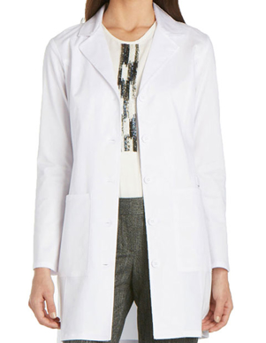 Picture of Cherokee Uniforms-CH-4439-Cherokee Workwear Women's 33 inch Notched Lapel Neckline Lab Coat