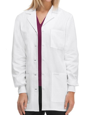 Picture of Cherokee Uniforms-CH-1362-Cherokee Women Knit Cuffs 32 Inches Short Medical Lab Coat