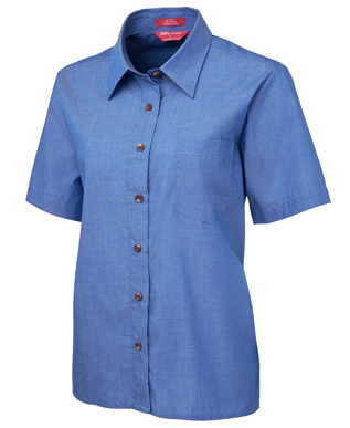 Picture of JBs Wear-4LICS-JB's LADIES ORIGINAL S/S INIDIGO CHAMBRAY SHIRT