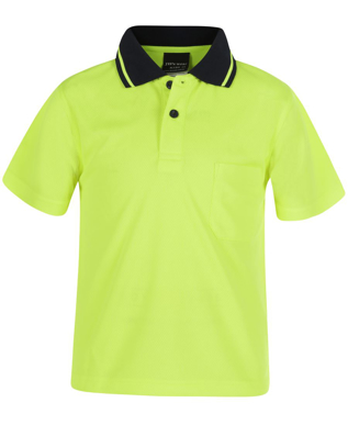 Picture of JBs Wear-6HVNC-KIDS-JB's KIDS HI VIS NON CUFF TRAD POLO