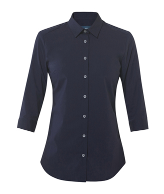 Picture of NNT Uniforms-CATU2L-NAV-3/4 Sleeve Mademoiselle Shirt