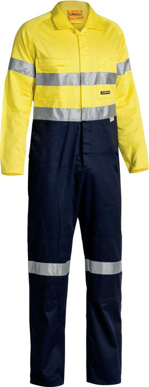 Picture of Bisley Workwear-BC6719TW-3M Taped Lightweight Hi Vis Coverall