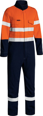 Picture of Bisley Workwear-BC8186T-Tencate Tecasafe® Plus 580 Taped Hi Vis Light- Weight Fr Non Vented Engineered Coverall
