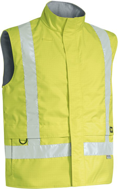 Picture of Bisley Workwear-BV0363T-3M Taped Hi Vis Wet Weather Anti Static Vest