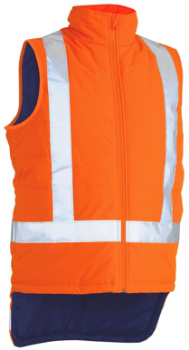 Picture of Bisley Workwear-BV0379XT-Taped Ttmc-W Hi Vis Puffer Vest With X Back (Shower Proof)