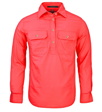 Picture of Ritemate Workwear-RM300CF-Women's Pilbara Shirt - Closed Front Light Weight Shirts