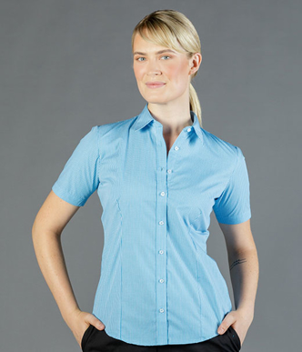 Picture of Gloweave-1637WS-WOMEN'S GINGHAM SHORT SLEEVE SHIRT -WESTGARTH
