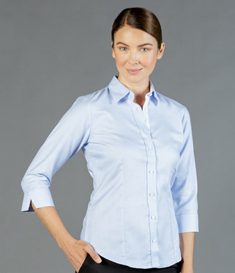 Picture of Gloweave-1709WL-WOMEN'S MICRO STEP 3/4 SLEEVE SHIRT -LANDSDOWNE