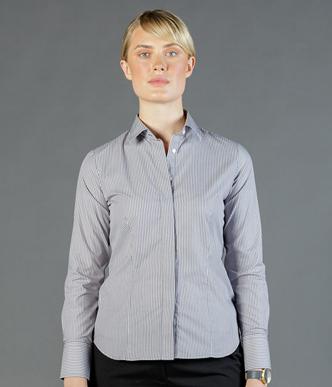 Picture of Gloweave-1376WL-WOMEN'S BENGAL STRIPE LONG SLEEVE SHIRT-COLLINS
