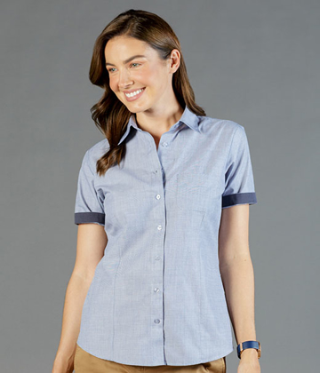 Picture of Gloweave-1253WHS-WOMEN'S END ON END SHORT SLEEVE SHIRT-SMITH