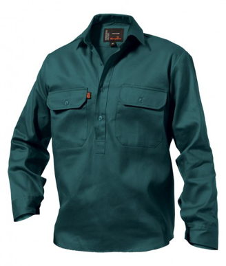 Picture of King Gee-K04020-Closed Front Drill Shirt L/S
